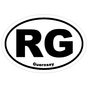 Guernsey Rg Oval Sticker