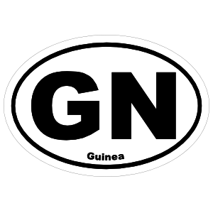 Guinea Gn Oval Magnet