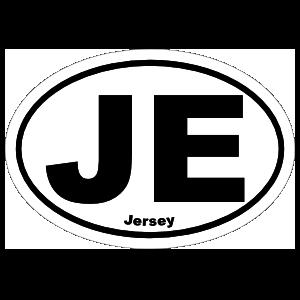 Jersey Je Oval Magnet