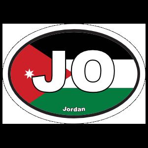 Jordan Jo Flag Oval Magnet