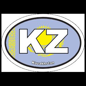 Kazakhstan Kz Flag Oval Magnet