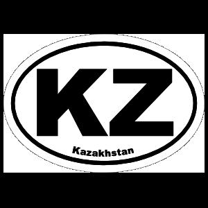 Kazakhstan Kz Oval Magnet