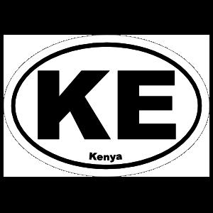 Kenya Ke Oval Magnet
