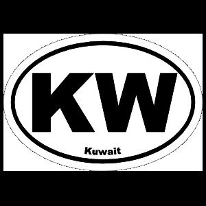 Kuwait Kw Oval Magnet