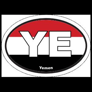Yemen Ye Flag Oval Magnet
