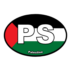 Palestine Ps Flag Oval Magnet