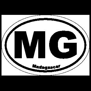 Madagascar Mg Oval Sticker