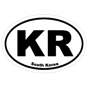 South Korea Kr Oval Magnet