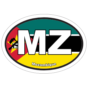 Mozambique Mz Flag Oval Magnet