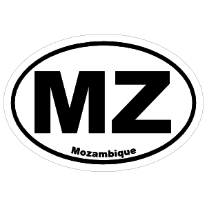 Mozambique Mz Oval Magnet