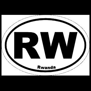Rwanda Rw Oval Magnet