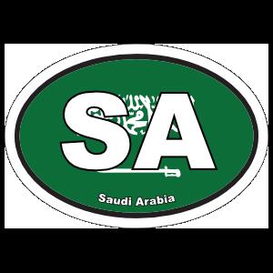 Saudi Arabia Sa Flag Oval Magnet