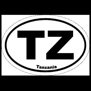 Tanzania Tz Oval Sticker