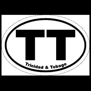Trinidad & Tobago Tt Oval Sticker