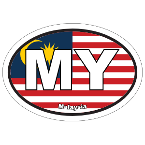Malaysia My Flag Oval Magnet