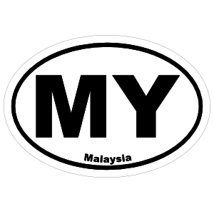Malaysia My Oval Magnet