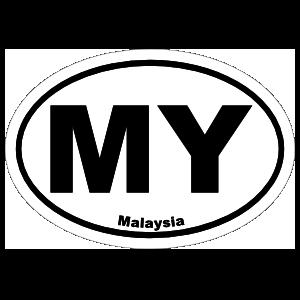 Malaysia My Oval Sticker
