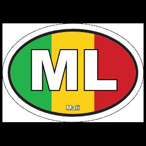 Mali Ml Flag Oval Sticker