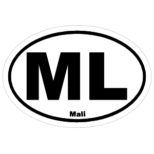 Mali Ml Oval Sticker