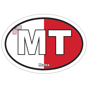 Malta Mt Flag Oval Sticker