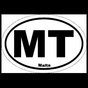 Malta Mt Oval Sticker