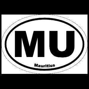 Mauritius Mu Oval Sticker