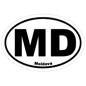 Moldova Md Oval Magnet