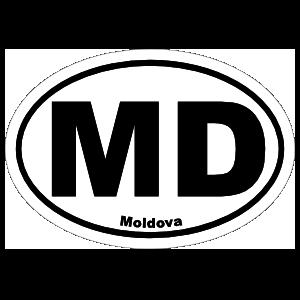 Moldova Md Oval Sticker