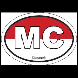 Monaco Mc Flag Oval Sticker