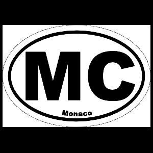 Monaco Mc Oval Sticker