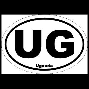 Uganda Ug Oval Sticker