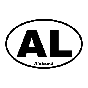 Alabama Al Oval Sticker
