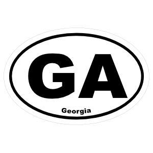 Georgia Ga Oval Sticker