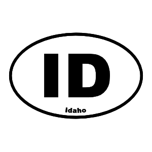Idaho Id Oval Sticker