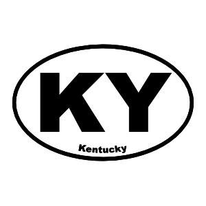 Kentucky Ky Oval Sticker