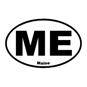 Maine Me Oval Sticker
