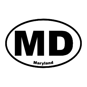 Maryland Md Oval Sticker