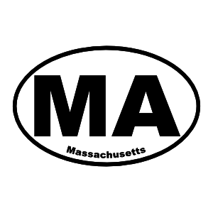 Massachusetts Ma Oval Sticker