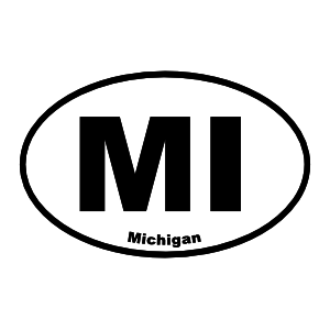 Michigan Mi Oval Sticker