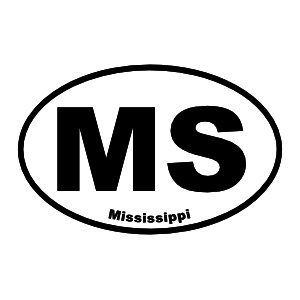 Mississippi Ms Oval Sticker