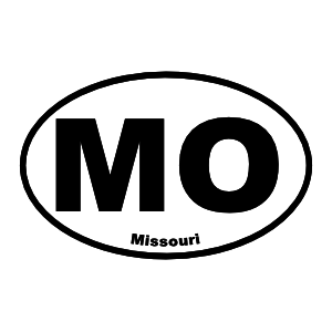 Missouri Mo Oval Sticker