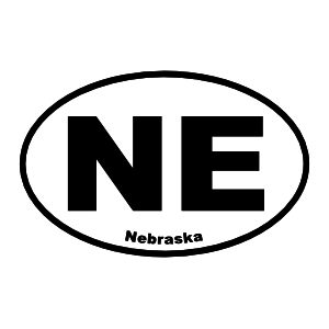 Nebraska Ne Oval Sticker