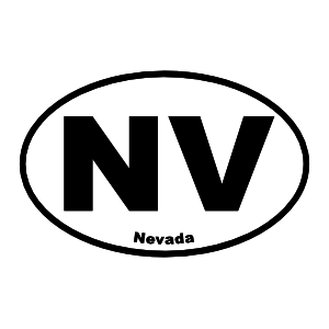 Nevada Nv Oval Sticker