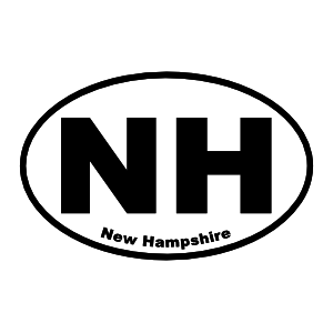 New Hampshire Nh Oval Sticker