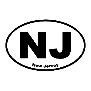 New Jersey Nj Oval Sticker