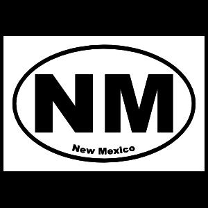 New Mexico Nm Oval Sticker