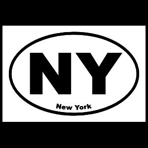 New York Ny Oval Sticker