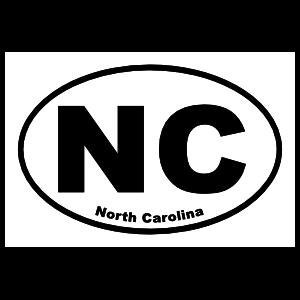 North Carolina Nc Oval Sticker