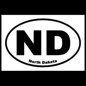 North Dakota Nd Oval Sticker