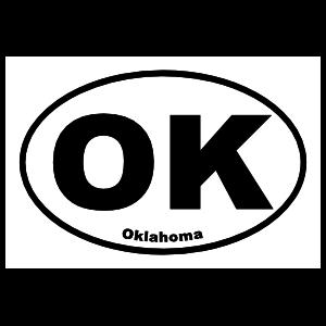 Oklahoma Ok Oval Sticker